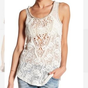 Miss me lace tank top